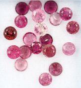 Lot 20 lose rundfacett. Turmaline zus. 10.63 ct, Pink, in versch. Farbnuancen Schätzpreis: 730, -