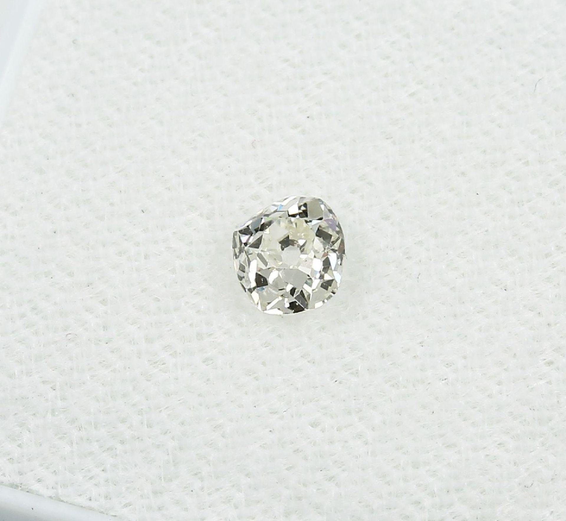 Loser Altschliffdiamant 0.45 ct get.Weiß/si Schätzpreis: 750, - EUR - Bild 3 aus 3
