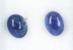 Lot 2 lose ovale Tansanitcabochons zus. 8.54 ct Schätzpreis: 980, - EUR