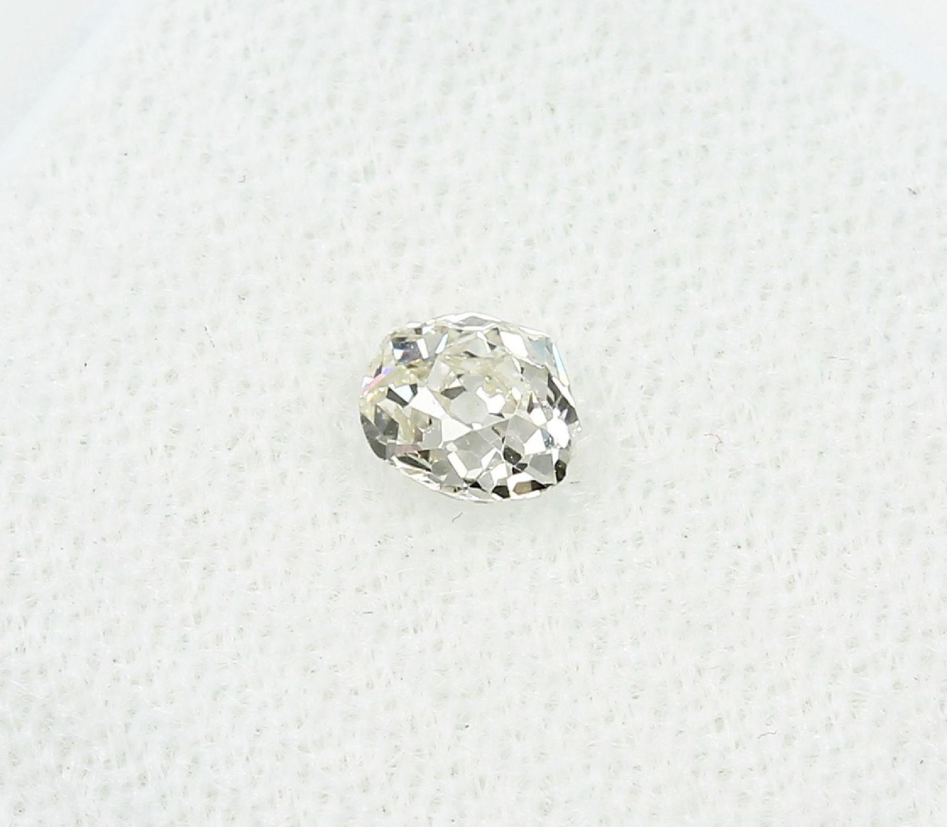 Loser Altschliffdiamant 0.45 ct get.Weiß/si Schätzpreis: 750, - EUR - Bild 2 aus 3