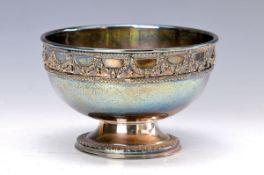 Silberfußschale, wohl USA 1910, 800er Silber, reiner Klassizismus, mit Zahnfries bzw.