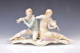 """Porzellangruppe, Hutschenreuther, Entwurf Carl Werner um 1935, Ausformung wohl 50er Jahre, """"Sonate"""","""