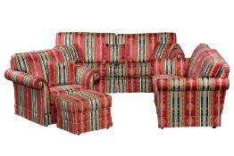 """4-teilige Sitzgarnitur, """"Schröno"""", made in Germany, bestehend aus 2-Sitzer Sofa, 3-Sitzer Sofa u."""