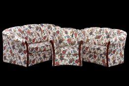 3-teilige Sitzgarnitur, bestehend aus 2-Sitzer Sofa, 3-Sitzer Sofa u. Sessel, frei stellbar,