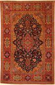 Feiner Ghaswin antik, Zentralpersien, um 1900, Korkwolle geknüpft auf Baumwolle. Eleganter