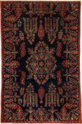 """Feiner Keschan """"Ateschoglou"""" antik, Zentralpersien, um 1900, Korkwolle geknüpft auf Baumwolle."""