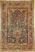 Feiner Teheran antik (Mit Königskrone), Zentralpersien, um 1900, Korkwolle geknüpft auf Baumwolle.