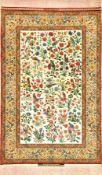 """Sehr feiner Esfahan """"Mahmoud & Mohammad-Reza Seirafian"""" alt """"Doppelsignatur"""" (Gol Va Bolbol Design),"""