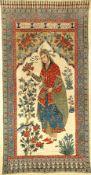 """Esfahan """"Qalamkar"""" antik (Tochter eines Königs), Zentralpersien, um 1900, Baumwolltuch teils"""