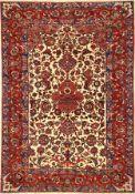 Feiner Esfahan alt, Zentralpersien, um 1930, Korkwolle geknüpft auf Baumwolle. Bemerkenswert fein