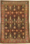 Feiner Teheran antik (Zypressen), Zentralpersien, um 1900, Korkwolle geknüpft auf Baumwolle. Fein