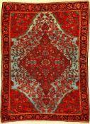Sehr feiner Mischan Malayer antik, Westpersien, Ende 19.Jhd., Wolle geknüpft auf Baumwolle. Seltener