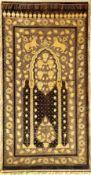 """Seltene indische """"Metallstickerei"""" antik, Indien, Mitte 19.Jhd., Metallstickerei auf Seiden-Samt."""