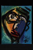 Peter Robert Keil, 2000, ohne Titel, ca. 50x40 cm, signiert u. datiert, Öl/Acryl Mischtechnik auf