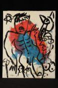 Peter Robert Keil, 1992, ohne Titel, ca. 120x95 cm, signiert u. datiert, Öl/Acryl Mischtechnik auf