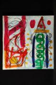 Peter Robert Keil, ohne Titel, ca. 99x103 cm, signiert, Öl/Acryl Mischtechnik auf Leinwand,