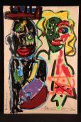 """Peter Robert Keil, 2011, Berlin, Titel: """"Die Beschneidung"""", ca. 180x125 cm, signiert u. datiert,"""