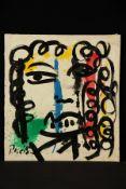 Peter Robert Keil, ohne Titel, ca. 110x99 cm, signiert, Öl/Acryl Mischtechnik auf Leinwand,