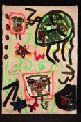"""Peter Robert Keil, 2009, Berlin, Titel: """"Die deutsche Hausfrau"""", ca. 180x125 cm, signiert u."""