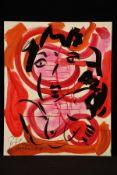 Peter Robert Keil, 2000, Berlin, ohne Titel, ca. 100x80 cm, signiert u. datiert, Öl/Acryl