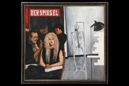 """Peter Robert Keil, 1975, Berlin, Rückseite mit Titel: """"Der Spiegel lebt"""", ca. 104x109 cm, signiert"""