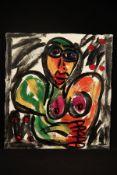 Peter Robert Keil, 1995, ohne Titel, ca. 110x100 cm, signiert u. datiert, Öl/Acryl Mischtechnik