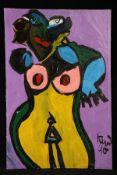 Peter Robert Keil, 1990, ohne Titel, ca. 150x100 cm, signiert u. datiert, Öl/Acryl Mischtechnik