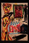 "Peter Robert Keil, 2012, Titel: ""Der Deutsche raucht Camel"", ca. 180x125 cm, signiert u. datiert,"