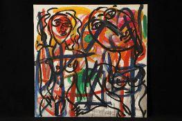Peter Robert Keil, 2000, Berlin, ohne Titel, ca. 150x150 cm, signiert u. datiert, Öl/Acryl