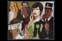 """Peter Robert Keil, 1985, Rückseite mit Titel: """"Nacht in der Paris-Bar"""", ca. 104x123 cm, signiert"""