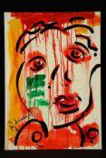 Peter Robert Keil, ohne Titel, ca. 100x70 cm, signiert, Öl/Acryl Mischtechnik auf Faserplatte,