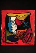 Peter Robert Keil, 1998, Berlin, ohne Titel, ca. 110x100 cm, signiert u. datiert, Öl/Acryl