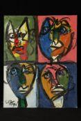 Peter Robert Keil, ohne Titel, ca. 120x95 cm, signiert u. datiert, Öl/Acryl Mischtechnik auf