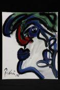 Peter Robert Keil, 2000, ohne Titel, ca. 60x50 cm, signiert u. datiert, Öl/Acryl Mischtechnik auf