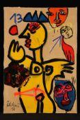 Peter Robert Keil, 2012, ohne Titel, ca. 180x125 cm, signiert u. datiert, Öl/Acryl Mischtechnik