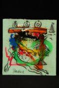 Peter Robert Keil, ohne Titel, ca. 106x100 cm, signiert, Öl/Acryl Mischtechnik auf Leinwand,