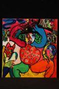 Peter Robert Keil, Berlin, ohne Titel, ca. 160x150 cm, signiert, Öl/Acryl Mischtechnik auf Leinwand,