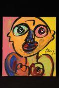 Peter Robert Keil, 1984, ohne Titel, ca. 100x90 cm, signiert u. datiert, Öl/Acryl Mischtechnik auf