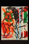Peter Robert Keil, 2000, ohne Titel, ca. 100x80 cm, signiert u. datiert, Öl/Acryl Mischtechnik auf