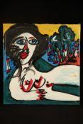 Peter Robert Keil, 1995, ohne Titel, ca. 105x100 cm, signiert u. datiert, Öl/Acryl Mischtechnik