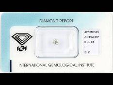 Altschliffdiamant, 0.39 ct l.get.Weiß (I)/si2,