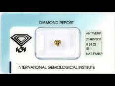 Loser Diamant, 0.28 ct Natural fancy deep orangy