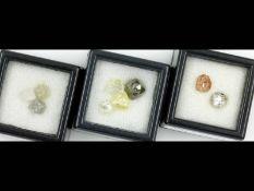 Lot 9 lose Rohdiamanten, zus. ca. 8.65 ct Schätzpreis: