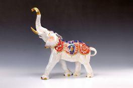 Porzellanfigur Elefant, Thüringen, Älteste Volkstedter