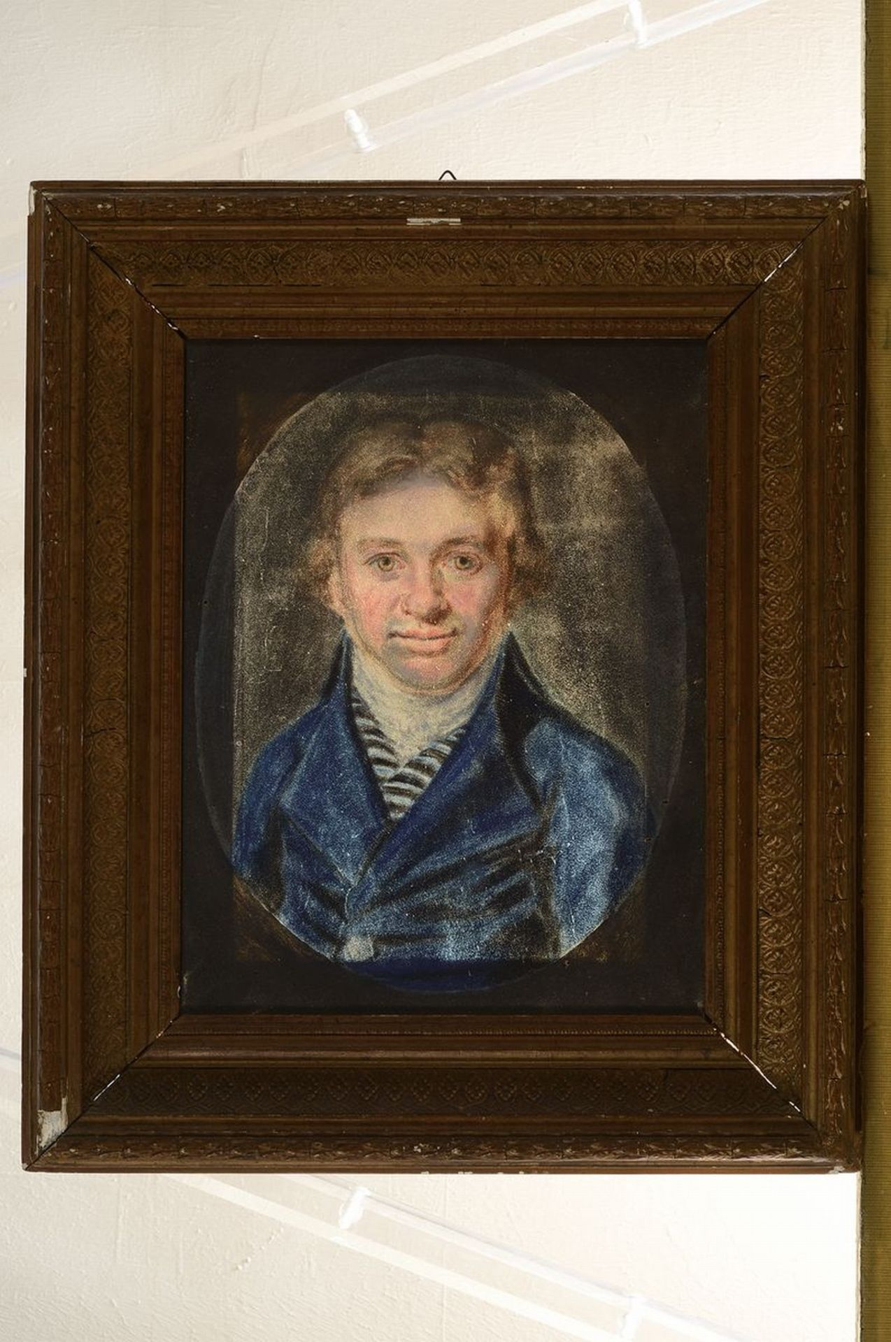 Unbekannter Künstler, um 1810, Porträt eines Mannes im - Bild 2 aus 2