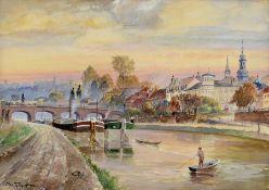 Christian Woytt, 1873-1949 Saarbrücken, Blick auf