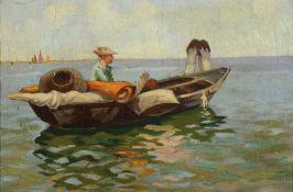 G. Gattoli, italienischer Maler um 1900-20, Fischer im