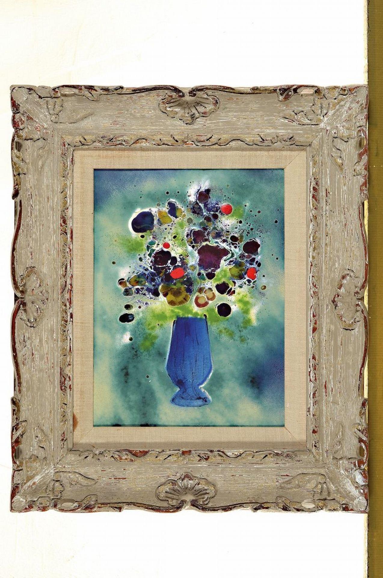 Unbekannter Künstler des 20.Jh., Emailbild - Bild 2 aus 2