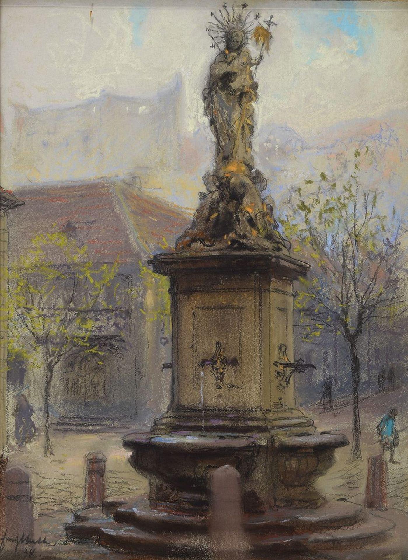 Franz Huth, 1876 Pößneck - 1970 Weimar, Ausbildung u.