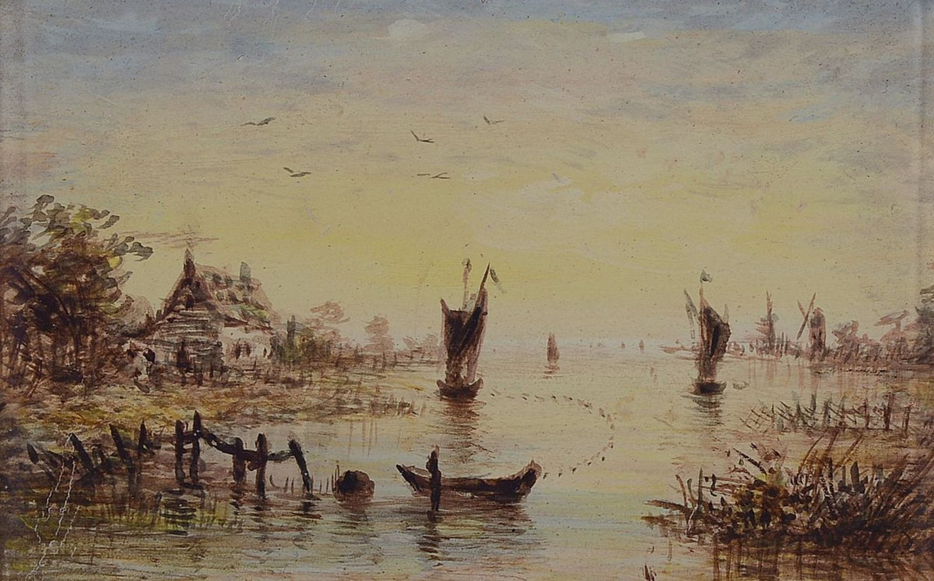 Unbekannter Künstler, Niederlande, um 1900, 2 Pendants: - Bild 4 aus 4
